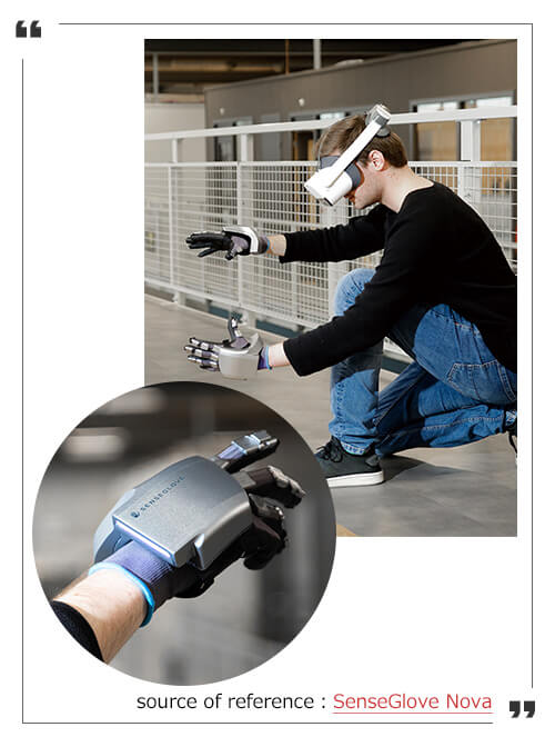 Remote control using VR gloves